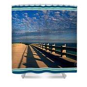 Bahia Honda Bridge In The Florida Keys Shower Curtain