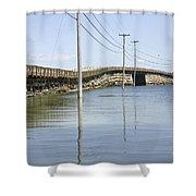 Bailey Island Bridge - Harpswell Maine Usa Shower Curtain