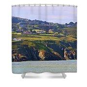 Baily Lighthouse Panorama 1 Shower Curtain