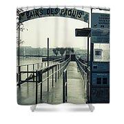 Bains Des Paquis Shower Curtain