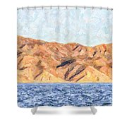 Baja Panorama Shower Curtain
