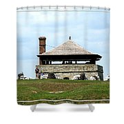 Bake House At Old Fort Niagara 2 Shower Curtain