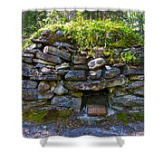 Bake Oven From 1884-5 In  Kicking Horse Campground In Yoho Np-bc Shower Curtain