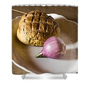 Baked Bread And Onion Shower Curtain