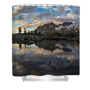 Baker Cloudscape Dusk Panorama Shower Curtain