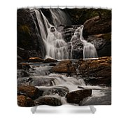 Bakers Fall. Horton Plains National Park. Sri Lanka Shower Curtain