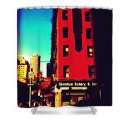 The Bakery - New York City Street Scene Shower Curtain