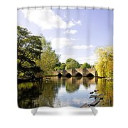 Bakewell Bridge - Over The River Wye Shower Curtain