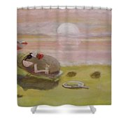 Baking Mr.potato Head. Shower Curtain