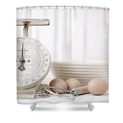 Baking Time Vintage Kitchen Scale Shower Curtain