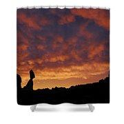 Balanced Rock Al Silhouette  Shower Curtain