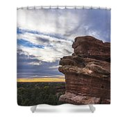 Balanced Rock At Sunrise - Garden Of The Gods - Colorado Springs Shower Curtain