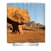 Balanced Rock Below Vermilion Cliffs Shower Curtain