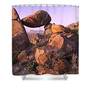 Balanced Rock In The Grapevine Shower Curtain