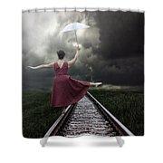 Balancing Shower Curtain by Joana Kruse