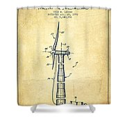 Balancing Of Wind Turbines Patent From 1992 - Vintage Shower Curtain