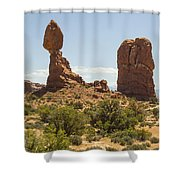 Balancing Rock In Arches Shower Curtain