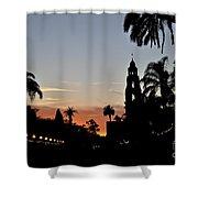 Balboa At Sunset  Shower Curtain