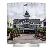 Balboa Downtown Main Street In Newport Beach Shower Curtain by Paul Velgos