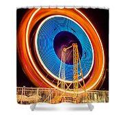 Balboa Fun Zone Ferris Wheel At Night Picture Shower Curtain