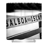Balboa Island Bench In Newport Beach California Shower Curtain