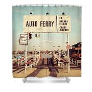Balboa Island Ferry Newport Beach Vintage Picture Shower Curtain