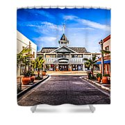 Balboa Main Street In Newport Beach Picture Shower Curtain by Paul Velgos