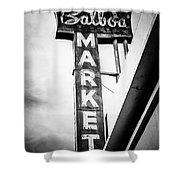 Balboa Market Sign Orange County California Photo Shower Curtain