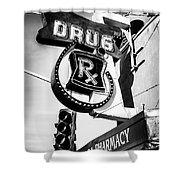 Balboa Pharmacy Drug Store Orange County Photo Shower Curtain