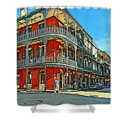 Balconies Painted Shower Curtain