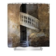 Balcony At Les Invalides Paris Shower Curtain
