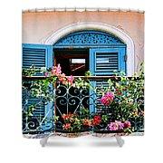 Balcony Blue By Diana Sainz Shower Curtain