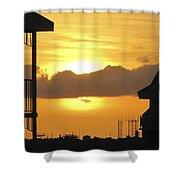 Key West Balcony Sunset Shower Curtain