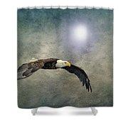 Bald Eagle Textured Art Shower Curtain