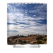 Bald Rock Glacial Erratics Shower Curtain