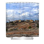 Bald Rock Panorama Shower Curtain