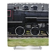 Baldwin 0-6-0 Steam Locomotive - Gorham New Hampshire Shower Curtain