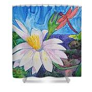 Bali Dragonfly Shower Curtain