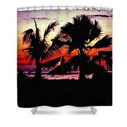 Bali Sunset Polaroid Transfer  Shower Curtain