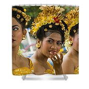 Balinese Dancers Shower Curtain by David Smith