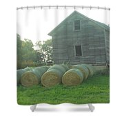 Baling Out Shower Curtain