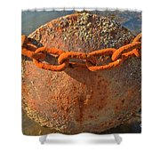 Ball And Chain Shower Curtain by Adam Jewell
