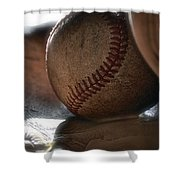 Ball And Glove Still Life Shower Curtain