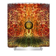 Ball And Strings Shower Curtain by Otto Rapp