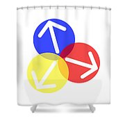 Ball Arrows Shower Curtain