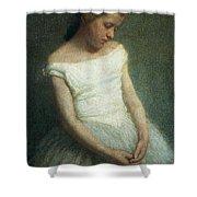 Ballerina Female Dancer Shower Curtain by Angelo Morbelli