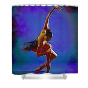 Ballerina On Point Shower Curtain