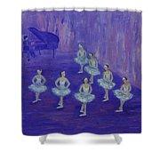 Ballerina Rehearsal Shower Curtain