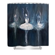 Ballerina. Swan Lake. Shower Curtain