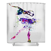 Ballerina Watercolor 2 Shower Curtain